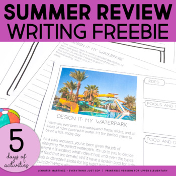 Summer Reading and Writing Activities | Summer Review Activities FREEBIE
