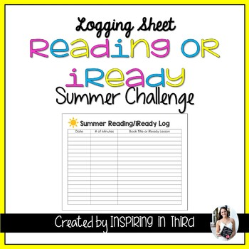 Summer Reading/iReady Log