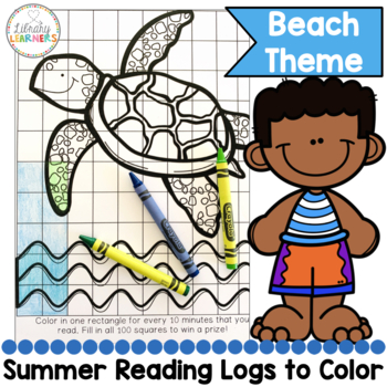 Summer Reading printable Read and Color