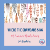 Summer Reads Series for Teachers: Where the Crawdads Sing...FREE RESOURCE
