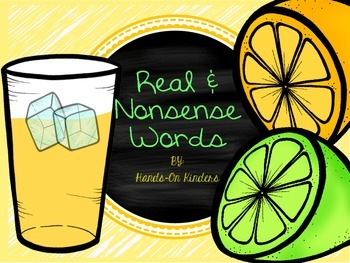 Summer Real and Nonsense Word Sort
