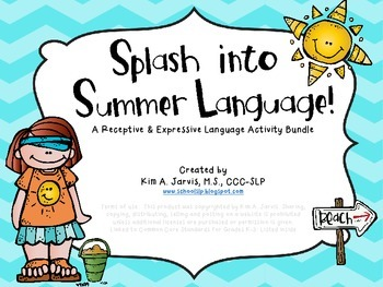 Summer: Receptive and Expressive Language Bundle