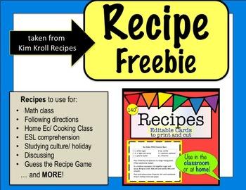 Summer Recipe Freebie