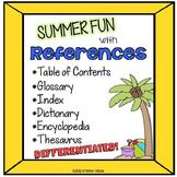 Reference Materials Summer Themed