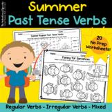 Summer Regular & Irregular Past Tense Verbs  No Prep Worksheets