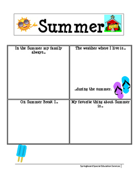 Summer Report: All About Me
