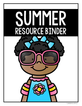 Summer Resource Binder Cover FREEBIE