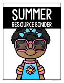 Summer Resource Binder Cover FREEBIE