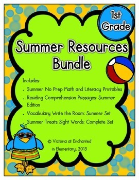 Summer Resources Bundle for First Grade