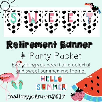Summer Retirement Banners and Party Packet