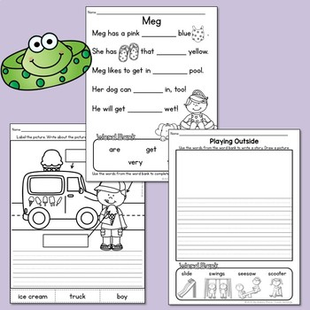 Kindergarten Summer Review Printables