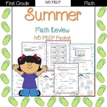 Summer Review: 1st grade NO PREP (Math)
