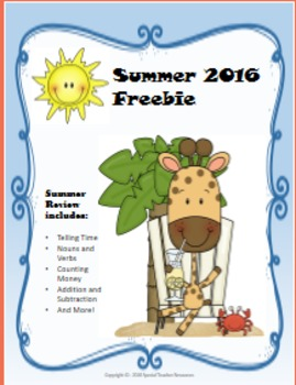 Summer Review Sample