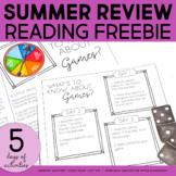 Summer Review Activities | Summer Maker | Summer Activities FREEBIE