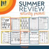 Summer Packet NO PREP Review for 1st Grade | End of the Ye