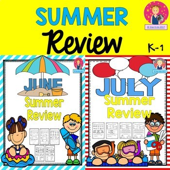 Summer Review BUNDLE for Kindergarten and First Grade