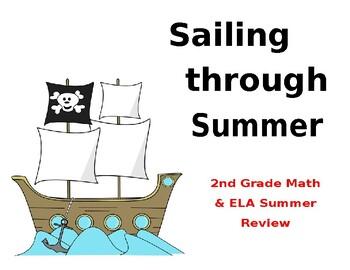 Summer Review Calendar 2nd Grade