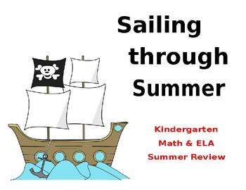 Summer Review Calendar- Kindergarten