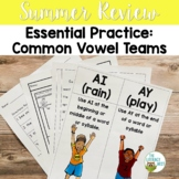 Summer Review: Vowel Teams and Diphthongs Phonics Activiti