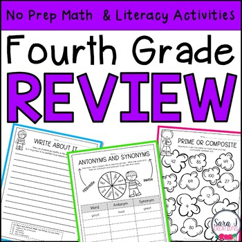 Summer Review | Fourth Grade | Distance Learning