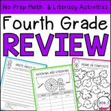Summer Review   Fourth Grade   Distance Learning