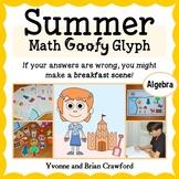 Summer Review Math Goofy Glyph (Algebra Common Core)