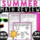 3rd Grade Math Summer Review   Digital and Printable