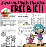Summer Review Math Packet FREEBIE!!!
