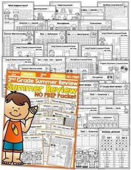 Summer Packet NO PREP Review (2nd Grade)