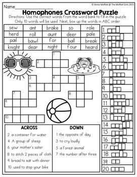 Summer Packet No Prep Review 2nd Grade By The Moffatt Girls Tpt Rh Teacherspayteachers Com