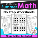 Summer Review NO PREP Math Packet – 4th to 5th Grade