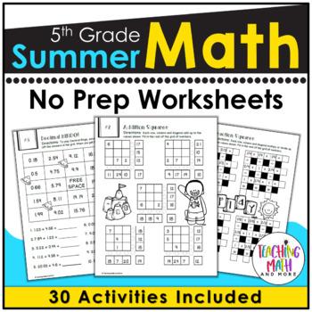 Summer Math Packet 5th Grade