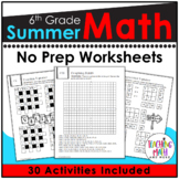 Summer Review NO PREP Math Packet – 6th to 7th Grade