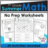 Summer Math Packet 7th Grade