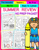 Summer Review NO PREP packet (Numbers 1 to 20)