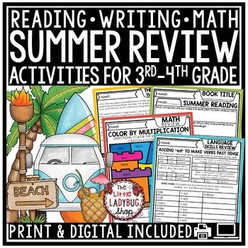 Summer Packet 3rd Grade, 4th Grade -Summer Review Packet