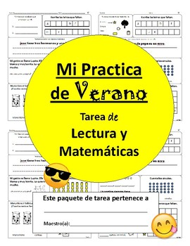 Bilingual Summer Review- 1st going to 2nd (Spanish)