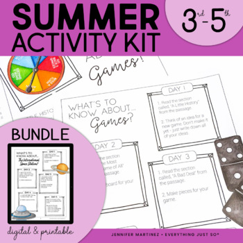 Summer Review Packet | End of Year Review | Third, Fourth, Fifth, Sixth