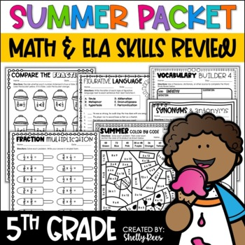 Summer Packet Summer Math and Reading Fifth Grade