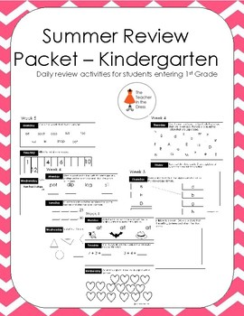 Summer Review Packet - Kindergarten