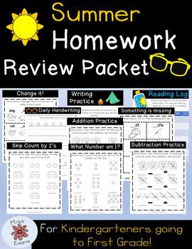 Summer Review Packet | No Prep Printables