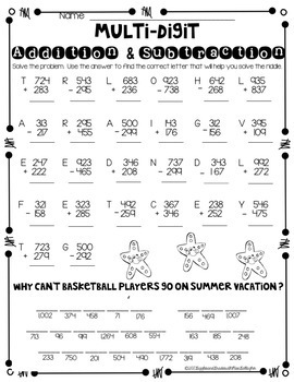 Summer Review Packet-Third Grade {Common Core Aligned}