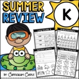 Summer Review Packet for Kindergarten {Distance Learning}