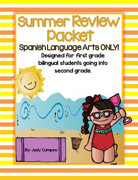 Spanish Language Arts Packet For First Graders Going into