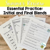 Summer Review: Initial Final Consonant Blends | Phonics Pa