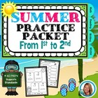 End of the YEAR Summer Packet From 1st grade to 2nd