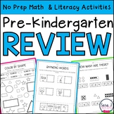 Summer Review   PreK   Distance Learning