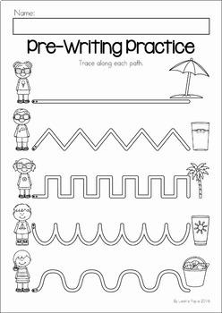 Summer Review Preschool No Prep Worksheets Amp Activities By
