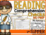 Summer Packet Reading Comprehension Checks