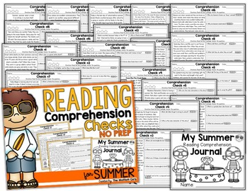 Summer Packet Reading Comprehension Checks